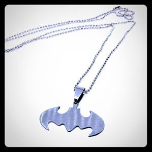 Stainless Steel Batman Necklace New